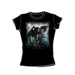 Heavy Metal - Biz 4 - Juniors Black S/S T-Shirt For Women