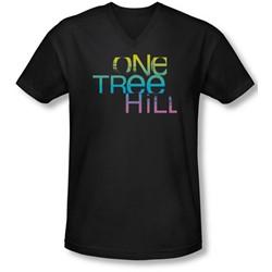 One Tree Hill - Mens Color Blend Logo V-Neck T-Shirt