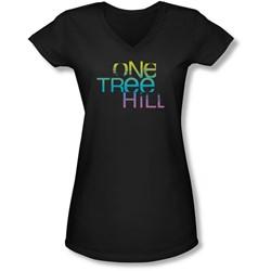 One Tree Hill - Juniors Color Blend Logo V-Neck T-Shirt