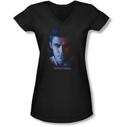 Vampire Diaries - Juniors Stefan V-Neck T-Shirt