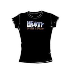 Heavy Metal - Heavy Metal Logo - Juniors Black S/S T-Shirt For Women