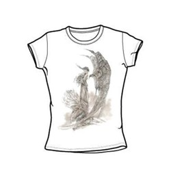 Heavy Metal - Demons Of The Heavens - Juniors White S/S T-Shirt For Women