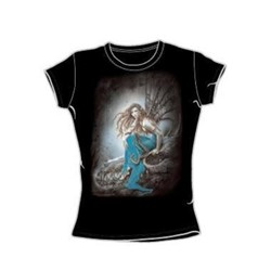Heavy Metal - Theres No More Wind - Juniors Black S/S T-Shirt For Women