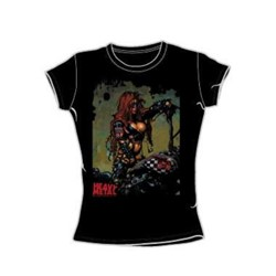 Heavy Metal - Biker Babe - Juniors Black S/S T-Shirt For Women