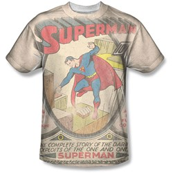Dc - Mens Superman #1 Distressed T-Shirt