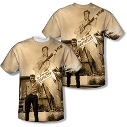 Elvis - Mens Larger Than Life T-Shirt