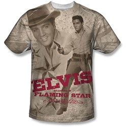 Elvis - Mens Flaming Star T-Shirt