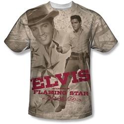 Elvis - Mens Flaming Star T-Shirt