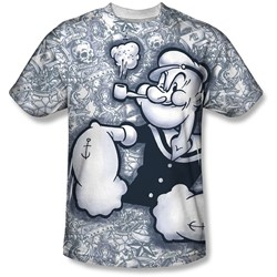 Popeye - Mens Tattooed Sailor T-Shirt