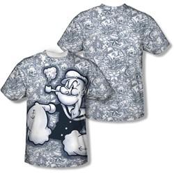 Popeye - Mens Tattooed Sailor T-Shirt