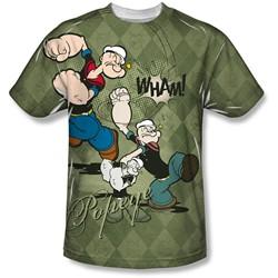 Popeye - Mens Argyle Punch T-Shirt