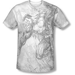 Superman - Mens Pencil City To Space T-Shirt
