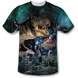 Jurassic Park - Mens Dinos Gather T-Shirt