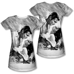 Gone With The Wind - Juniors Bw Poster T-Shirt