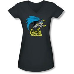 Dc - Juniors Batgirl Is Hot V-Neck T-Shirt