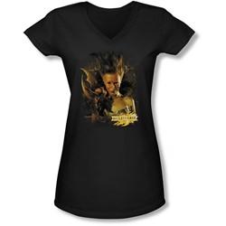 Mirrormask - Juniors Queen Of Shadows V-Neck T-Shirt