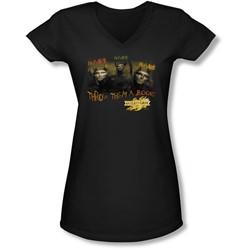 Mirrormask - Juniors Hungry V-Neck T-Shirt