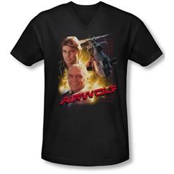 Airwolf - Mens Airwolf V-Neck T-Shirt