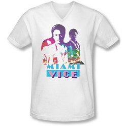 Miami Vice - Mens Crockett And Tubbs V-Neck T-Shirt