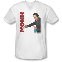 Monk - Mens Clean Up V-Neck T-Shirt