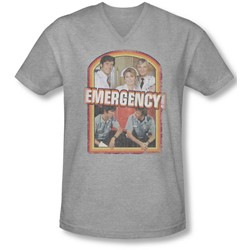 Emergency - Mens Retro Cast V-Neck T-Shirt