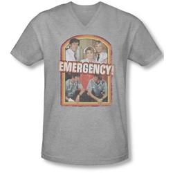 Emergency - Mens Retro Cast V-Neck T-Shirt
