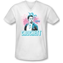 Miami Vice - Mens Crockett V-Neck T-Shirt