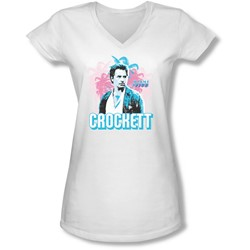 Miami Vice - Juniors Crockett V-Neck T-Shirt