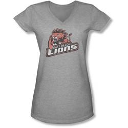 Friday Night Lts - Juniors East Dillion Lions V-Neck T-Shirt
