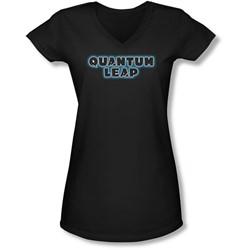 Quantum Leap - Juniors Logo V-Neck T-Shirt