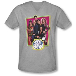 Saved By The Bell - Mens Saved Cast V-Neck T-Shirt