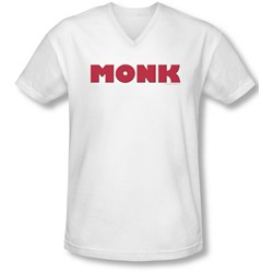 Monk - Mens Logo V-Neck T-Shirt