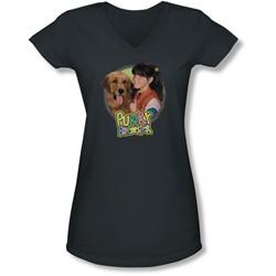 Punky Brewster - Juniors Punky & Brandon V-Neck T-Shirt