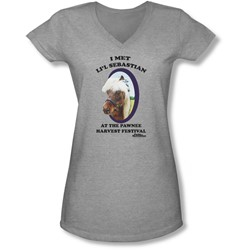 Parks & Rec - Juniors Li'L Sebastian V-Neck T-Shirt