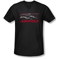 Airwolf - Mens Grid V-Neck T-Shirt