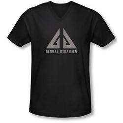 Eureka - Mens Global Dynamics Logo V-Neck T-Shirt