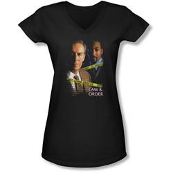 Law&Order - Juniors Briscoe&Green V-Neck T-Shirt