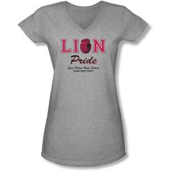 Friday Night Lights - Juniors Lions Pride V-Neck T-Shirt