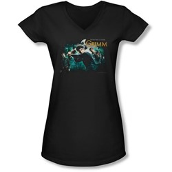 Grimm - Juniors Storytime Is Over V-Neck T-Shirt