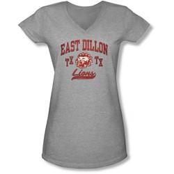 Friday Night Lights - Juniors Athletic Lions V-Neck T-Shirt
