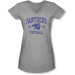 Friday Night Lights - Juniors Panther Arch V-Neck T-Shirt
