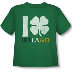 I Love Ireland - Toddler T-Shirt In Kelly Green