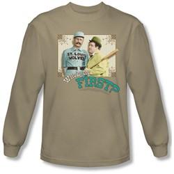 Abbott & Costello - Mens Who'S On First Longsleeve T-Shirt