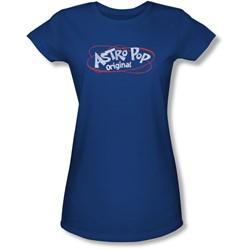 Astro Pop - Juniors Vintage Logo Sheer T-Shirt
