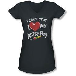 Astro Pop - Juniors I Heart V-Neck T-Shirt