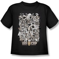 Axe Cop - Group Shot Juvee T-Shirt In Black