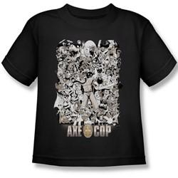 Axe Cop - Group Shot Juvee T-Shirt In Black