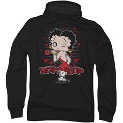 Betty Boop - Mens Classic Kiss Hoodie