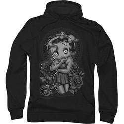 Betty Boop - Mens Fashion Roses Hoodie