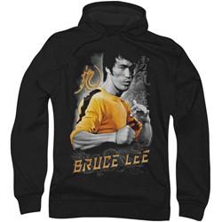 Bruce Lee - Mens Yellow Dragon Hoodie
